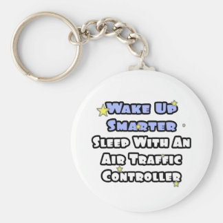 Wake Up Smarter..Sleep With Air Traffic Controller Basic Round Button Key Ring