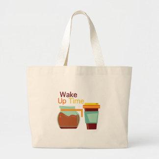 Wake Up Time Jumbo Tote Bag