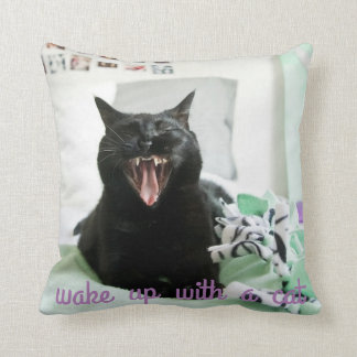 Wake up with a cat pillow