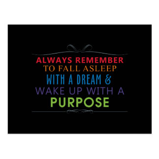 Wake Up With a Purpose Postcard