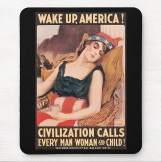 Wake Up World War II Mousepad