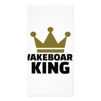 Wakeboard King Personalised Photo Card