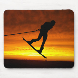 Wakeboard Sunset Silhouette Mouse Mat