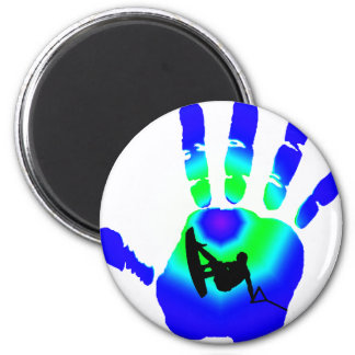 WAKEBOARD THE GRAB 6 CM ROUND MAGNET
