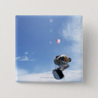 Wakeboarder Jumping 15 Cm Square Badge