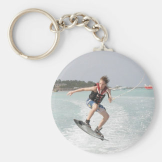 Wakeboarder Jumping Keychain