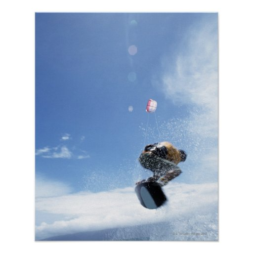 Wakeboarder Jumping Poster