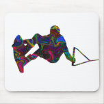Wakeboarder Wild Colours Mouse Pad