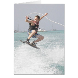 Wakeboarding Greeting Card
