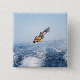 Wakeboarding Stunt 15 Cm Square Badge