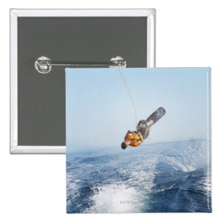 Wakeboarding Stunt 15 Cm Square Badge