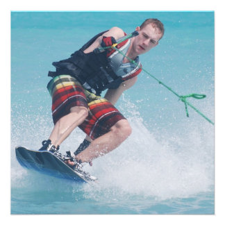 Wakeboarding Tail Grab Personalized Invitations