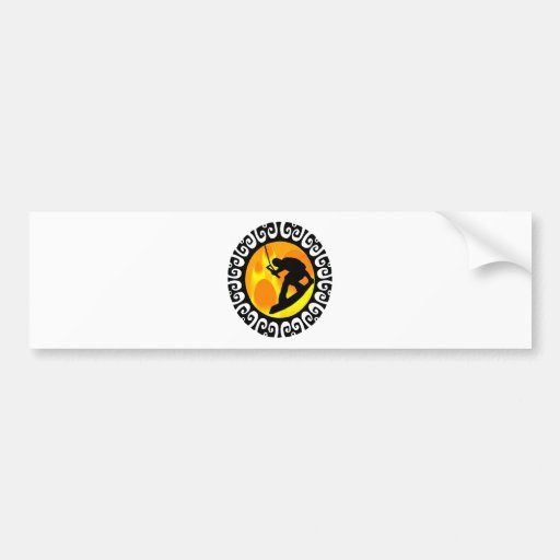 WAKEBOARDING THE ATMOSPHERE BUMPER STICKERS
