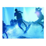 Wakeboarding Trio Postcard