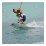 Wakeboarding Turn Poster Print