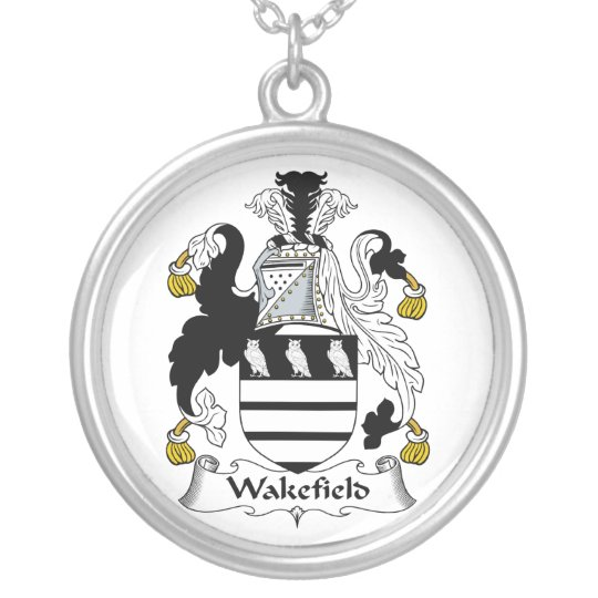 Wakefield Family Crest Silver Plated Necklace