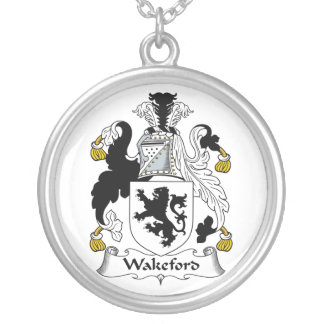 Wakeford Family Crest Round Pendant Necklace