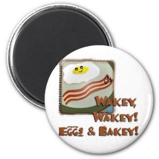 Wakey Eggs & Bakey 6 Cm Round Magnet