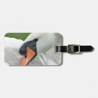 Waking swan bag tag