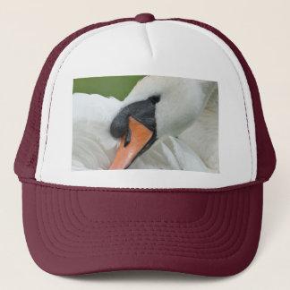 Waking swan trucker hat