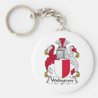 Waldegrave Family Crest Basic Round Button Key Ring