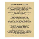 Walden Life in the Woods quote Poster
