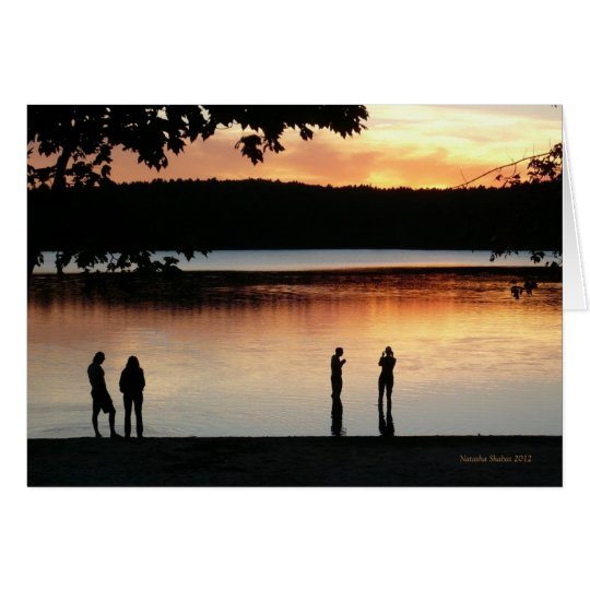 "Walden Pond ""Serene Western Sky"" card"