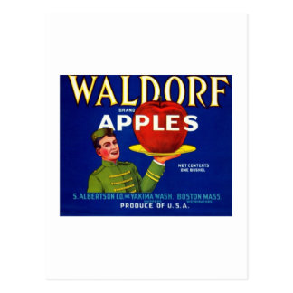 Waldorf Apples Postcard