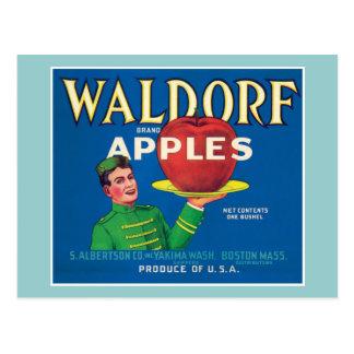 Waldorf Apples Vintage Label Post Cards