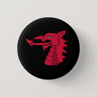 Wales Badge - Welsh Dragon Head on Black