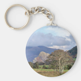 WALES BASIC ROUND BUTTON KEY RING