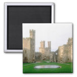 Wales, Caernarfon castle, one of Edward's 2 Square Magnet