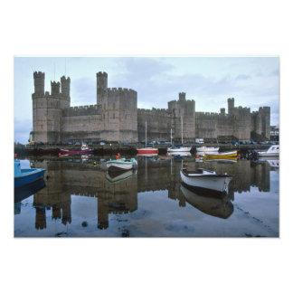 Wales, Caernarfon castle, one of Edward's Photo Print