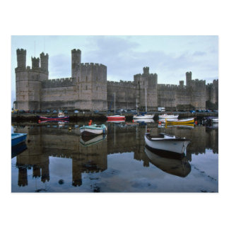 Wales, Caernarfon castle, one of Edward's Postcard