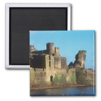 Wales - Caerphilly castle, with a view of the Square Magnet