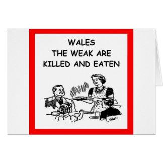 WALES GREETING CARD