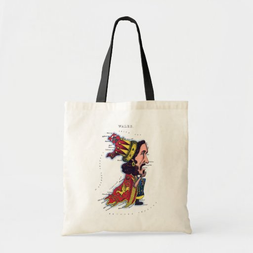 Wales Caricature Map Bags