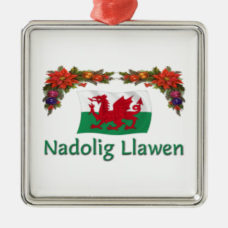 \Wales Christmas Silver-Colored Square Decoration