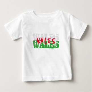 Wales - Colours of the Welsh Flag Baby T-Shirt