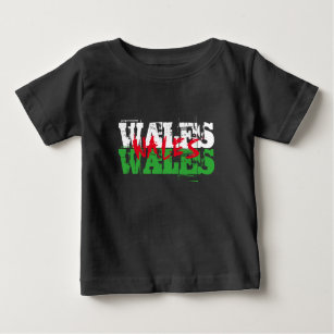 419fff71 Wales - Colours of the Welsh Flag Baby T-Shirt