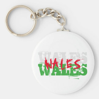 Wales - Colours of the Welsh Flag Key Ring