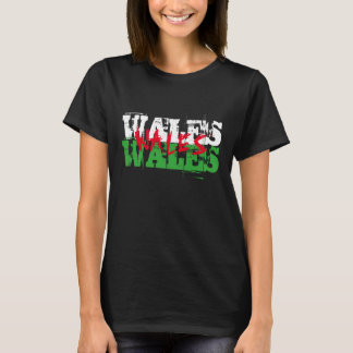 Wales - Colours of the Welsh Flag T-Shirt