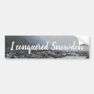 Wales Conquered Snowdon Landscape Welsh Stream Bumper Sticker