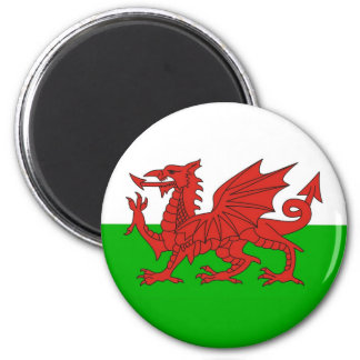 wales country dragon flag welsh british 6 cm round magnet