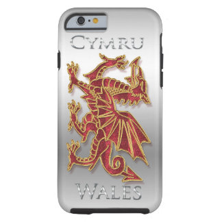 Wales Cymru, Dragon, Silver Effect iPhone 6, Tough Tough iPhone 6 Case