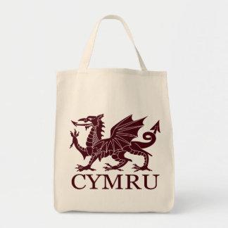 Wales CYMRU Grocery Tote Bag