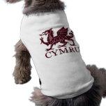 Wales CYMRU Pet Tshirt