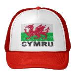 Wales CYMRU Vintage Flag Mesh Hats