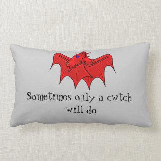 Wales dragon gives welsh cwtch lumbar cushion