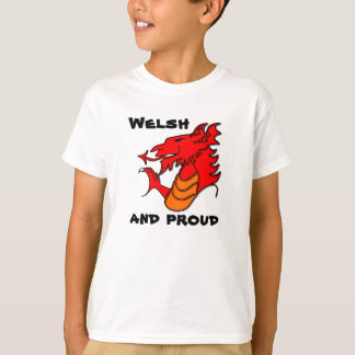 Wales Dragon Welsh and proud tee